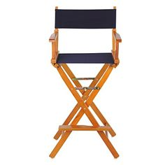 Casual Home 30-Inch Solid Wood Director Chair, Honey Oak Frame