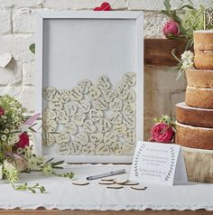 Ginger Ray Boho Drop Top Wooden Frame Alternative Wedding Guest Book I love this guest book, would work so well at a rustic wedding. Wedding Frames, Diy Wedding, Rustic Wedding, Wedding Gifts, Wedding Day, Autumn Wedding, Wedding Reception, Cake Wedding, Forest Wedding