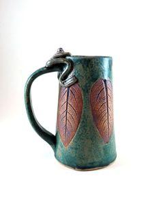 Large Handmade Ceramic Mug  Beer Tankard  by Botanic2Ceramic, $50.00