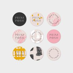Got news this week that due to trademark issues, the name of this cutie boutique has to change au revoir Prim & Posh logo #graphicdesign #branding #design #logo #logodesign