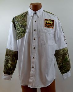 Roper Range Gear Mens M Padded Shooting Shirt Elk Camp Used #Roper #shootingshirt