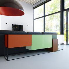 4-Box Sideboard - Orange/Green - alt_image_three