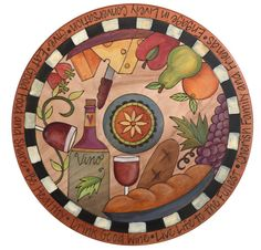 Farm to Table with Wine Sticks Lazy Susan Design Diy Christmas Videos, Sticks Furniture, Paisley Art, Arte Country, Stick Art, Wine Art, Mosaic Crafts, Hand Painted Furniture, Lazy Susan