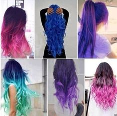 Bright ombre hair colors. Would adore to have hair bright! Dont think it would suit me. But how amazingggg!!!