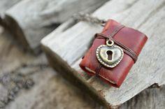 Miniature Book Necklace. $7.00, via Etsy.