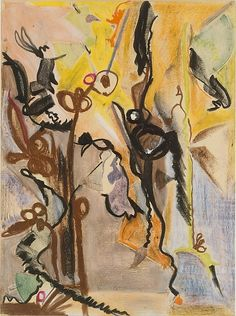 'The Song of Orpheus' (1944-45) by Barnett Newman