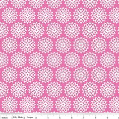 LAMINATED cotton fabric  Lovey Lace Pink by Doodlebug by Laminates, $14.75