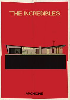 Minimalist Posters Depict The Architecture Of 13 Classic Films.  ARCHICINE by Federico Babina