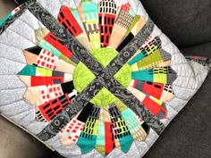 Urban Dresden Modern Patchwork Pillow