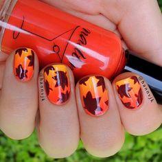 60-fall-inspired-nail-designs--large-msg-138092451069 Autumn Nails, Fall Nail Art, Spring Nails, Manicure And Pedicure, Nail Polish, Nail Designs Spring, Nail Art Designs, Nail Arts, Nail Trends