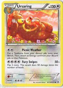Pokemon Card Legendary Treasures common Ursaring RC16/RC25 FREE COMB S&H