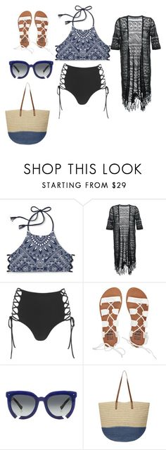 """""""Lets go to the beach beach <3"""" by norishaa on Polyvore featuring Guild Prime, Mara Hoffman, Billabong, Grey Ant and Dorothy Perkins"""