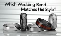 Men's wedding bands come in a variety of styles and designs. Take our quiz to find the perfect wedding band for you!