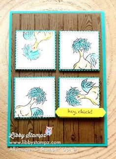 Hey Chick!! Sale-A-Bration Video Series. Uses Watercolor Pencils and Blender Pen. Squares are cut with Layering Squares and Stitched Shapes Framelits Dies