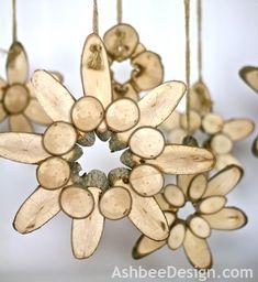 Wood Slice Flowers