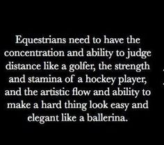"""Don't know about the ballerina part... I do barrel racing and if that looks elegant to you, then take a look at my boots that I don't shine or clean or my """"riding clothes"""" which is an old shirt and pair of jeans. Not to mention my helmet I have a cover for just because it has cracks and scratches. So yes, I am a mother fluffin' elegant ballerina."""