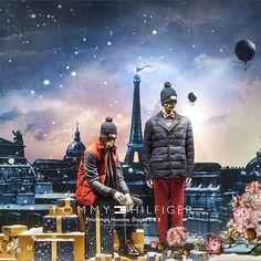 CONTE DE PRINTEMPS À NOËL. Tommy Hilfiger - Printemps Homme. Illustration Laurent Sanguinetti 150.printemps.com 11.2015