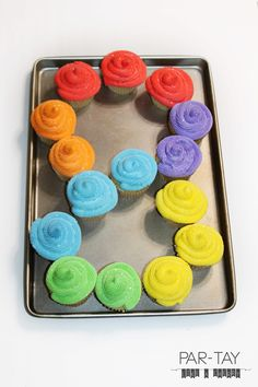 8 year old birthday or baptism dessert idea, rainbow cupcakes in the shape of an lots of other baptism and great to be 8 ideas and printables Baptism Desserts, Baptism Cupcakes, Baptism Party, Baptism Ideas, Baptism Talk, Birthday Week, Birthday Parties, Birthday Cakes, Birthday Ideas