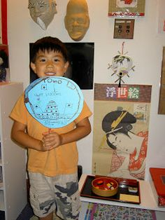 Inspired Montessori and Arts at Dundee Montessori: Japanese Fans Art Project