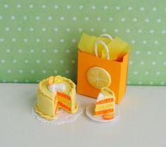 Miniature Lemon Orange Cake via Etsy