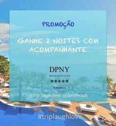 Essa oportunidade de ganhar 2 diárias no melhor hotel de praia da América Latina te agrada!? Então corra encontrar em nosso perfil a foto  da promoção e seguir o passo a passo.   !!!!  1 ano #triplaughlove  #dpny = você no paraíso!!!! . #1ano #aniversario #promocao #participe #tlldpny #beachhotel #spa #5estrelas by trip.laugh.love