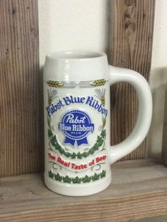 Vintage Pabst Blue Ribbon  beer stein~Oktoberfest beer stein~1981 Oktoberfest Pabst Blue Ribbon beer stein, Fathers Day gift, gift for him by NothingsNewHere on Etsy