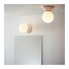 VITEMÖLLA Ceiling/wall lamp, porcelain ceramic stoneware, glass stoneware/glass -