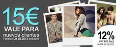 15€ #gratis nuevos clientes + 10€ por suscríbete al boletín haburi #Moda  hasta el 31.03.2012 inclusive. http://www.expotienda.com/index.asp?categoria=10&producto=70  $15