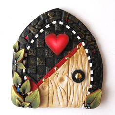 sandylandya@outlook.es Heart Fairy Door Pixie Portal by Claybykim on Etsy, $20.00