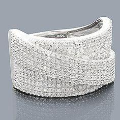 Idée et inspiration Bague Diamant :   Image   Description   14K Gold Pave Diamond Wedding Band 0.93ct @}-,-;–