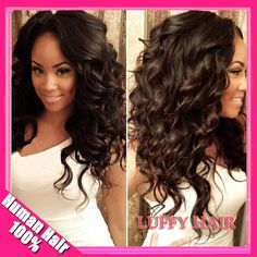 Hot Sale glueless full lace wig & front lace wig Loose Wave 100% brazilian virgin hair with baby hair for black women