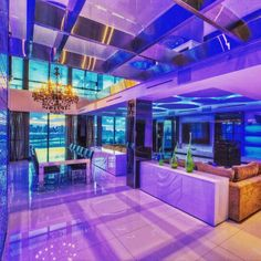 This eye-popping penthouse has some serious swag!  #ph #penthouse #mansion #luxury #miamibeach #realestate #views #rooftop #sobe #vacation #interiors #architecture #modernhome
