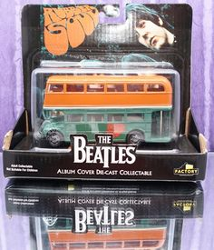 WITH THE BEATLES ADULT DIE CAST COLLECTIBLE ALBUM COVER DOUBLE DECKER BUS #Notspecified