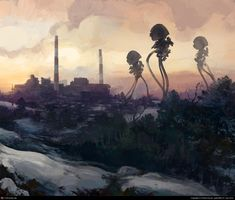 War of the Worlds sketch #2 by Raine Kuusi | 2D | CGSociety