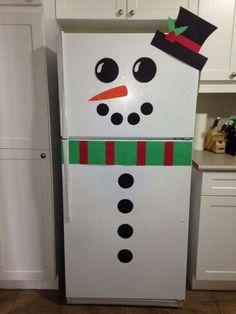 Refrigerator Snowman!