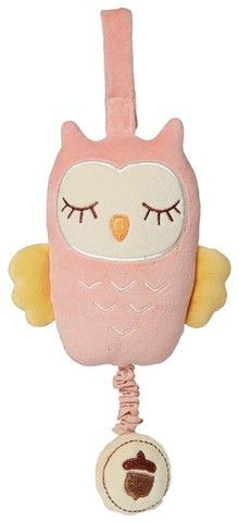 Musical Pull Toy - Pink Owl