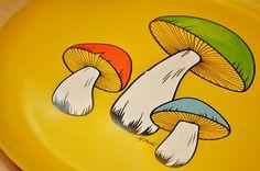 Thrifty mushrooms! #retro