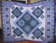 Finished Blue and Purple Whack and Stack Quilt