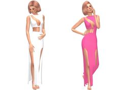 Long dress with 14 swatches.  Found in TSR Category 'Sims 4 Female Everyday'