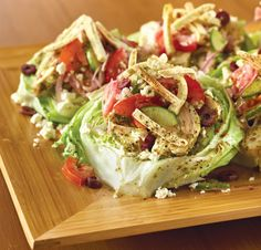 Loving the crunchy pita strips in our new Mediterranean Wedge Salad.