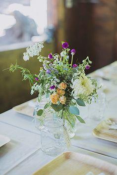 pretty floral centerpieces | www.onefabday.com