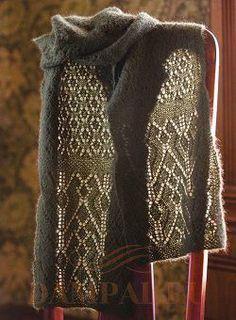 тонкий ажурный шарф