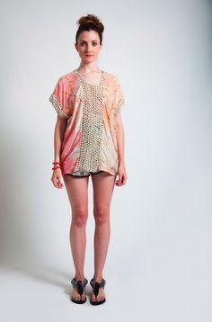 Osei-Duro- Rust Crochet Panel Top Spring/Summer 2012
