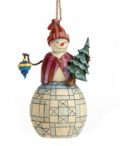 """Jim Shore Christmas Ornament, 4.25"""" Snowman with Tree. Jim Shore Christmas Ornament, 4.25"""" Snowman with Tree Home - Misc Holiday Lane. Price: $17.50"""