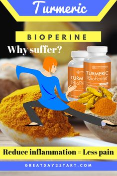 How to get rid of inflammation, reduce joint pain and burn fat? Turmeric with BioPerine which is more effective than Turmeric alone! Weight Loss Chart, Best Weight Loss Program, Fast Weight Loss Tips, Weight Loss Tea, Weight Loss Meal Plan, How To Lose Weight Fast, Lose Muffin Top, Lose Body Fat, Healthy Diet Recipes