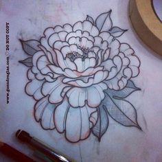 Little peony ☺️ #tattoo #tattoos by aline