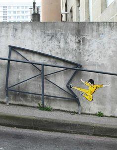 The Mighty Lee...  #brucelee #streetart