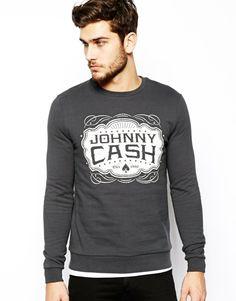 ASOS Sweatshirt With Johnny Cash Print