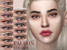 The Sims 4 CC: Fallon Eyeliner od Praline Sims 3, The Sims 4 Pc, Sims 4 Cas, Sims 4 Cc Eyes, Sims 4 Cc Skin, Elf Make Up, Laura Geller, Makeup Tutorial Eyeliner, Eyeliner Makeup