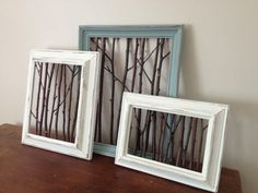 25 Best DIY Picture Frame Ideas [Beautiful, Unique, and Cool] Unique and cool picture frame designs. Here are many inspirations of DIY picture frame designs. Some beautiful carvings. Diy Wand, Cool Picture Frames, Crafts With Picture Frames, Photo Frames Diy, Picture Frame Projects, Painted Picture Frames, Rustic Picture Frames, Picture Tree, Twig Crafts